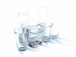 Glass collections 3d model