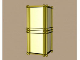 Brass wall sconces 3d model