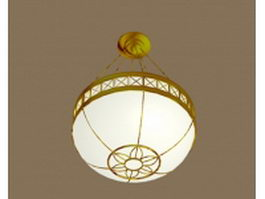 Indoor pendant light fixture 3d model