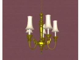Vintage pendant chandelier 3d model