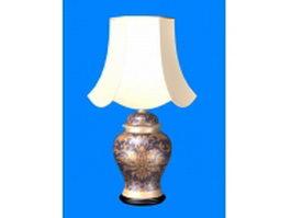Elegant porcelain table lamp 3d model