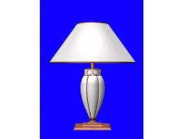 Bronze table lamp 3d model