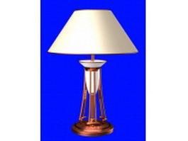 Bronze metal table lamp 3d model