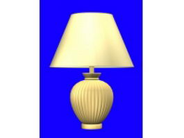 Yellow table lamp 3d model