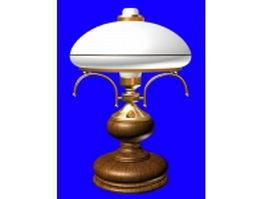 Antique wooden table lamp 3d model