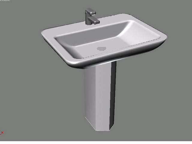 Pedestal hand basin 3d model 3ds max files free download - modeling ...