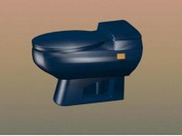 Siphonic one piece toilet 3d model