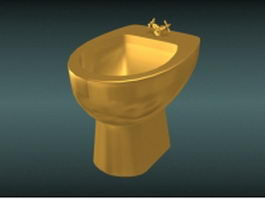 Gold bidet 3d model