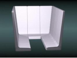 Sauna room 3d model