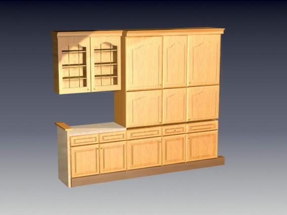 Kitchen Wall Cupboards 3d Model 3d Studio 3ds Max Files Free Download Modeling 24438 On Cadnav