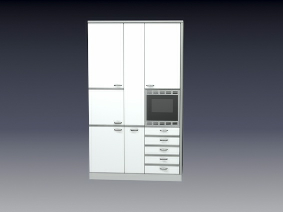 Kitchen wall cabinets 3d model 3D Studio,3ds max files free