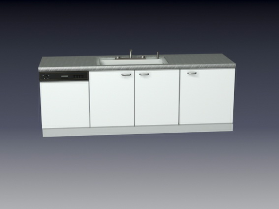 Kitchen Cabinet And Sink Combo 3d Model 3d Studio 3ds Max Files Free Download Modeling 24461