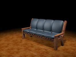 Upholstered settee furniture 3d model