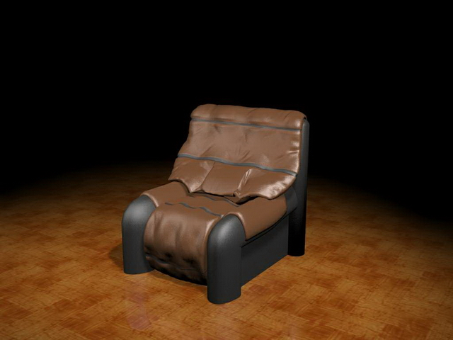 leather upholstered chair 3d model 3ds max files free downlo