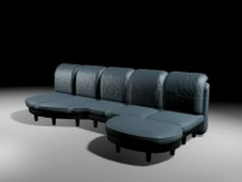 Blue sofa sets 3d model