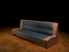 Antique settee couch 3d model