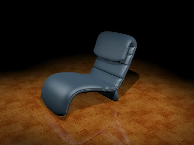 Modern recliner chair 3d model - 144.2KB