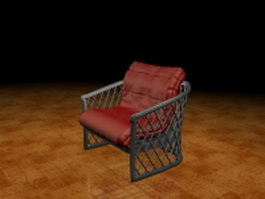 Upholstered wire chair 3d model