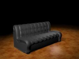 Armless sofa bench 3d model