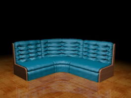 Corner sectional sofas 3d model