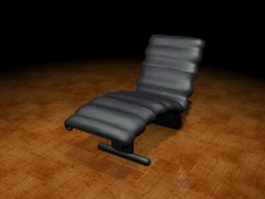 Black chaise lounge 3d model