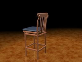 Rustic bar stool 3d model