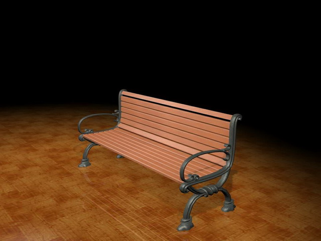 Garden Bench 3d Model 3ds Max Files Free Download