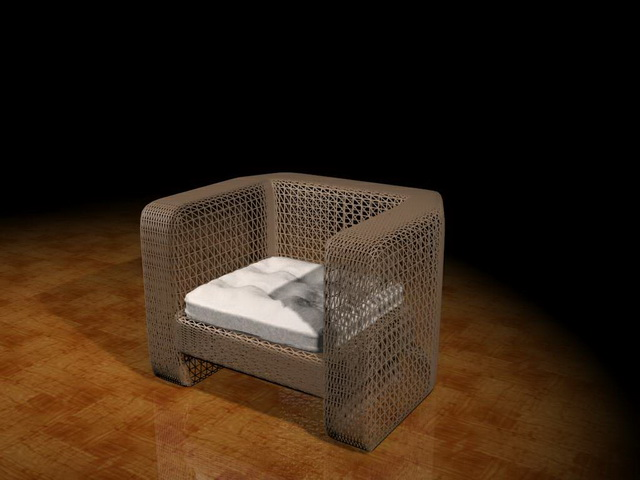 Wire Mesh Sofa Chair 3d Model 3ds Max Files Free Download