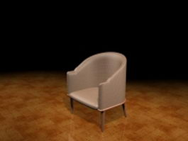 Upholstered tub chair 3d model