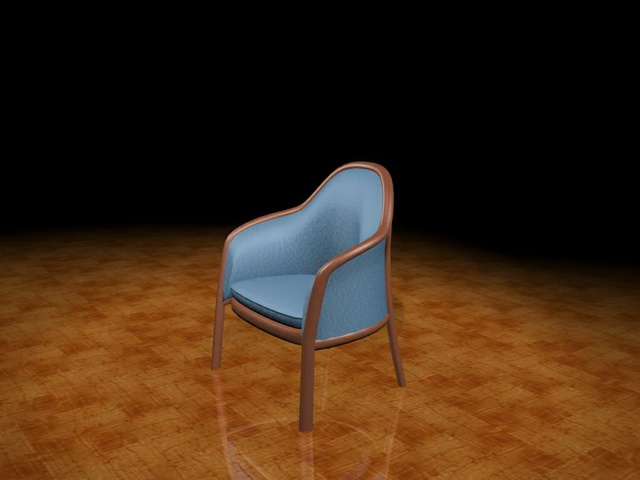 Blue tub chair 3d model 3ds max files free download - modeling 24568 ...