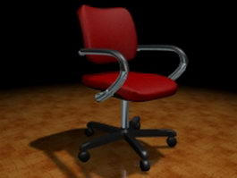 Office chair with arms 3d model