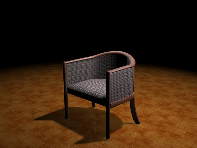 Modern tub chair 3d model 3ds max files free download - modeling ...