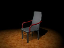High back chair 3d model