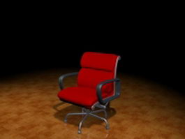 Modern red task chair 3d model