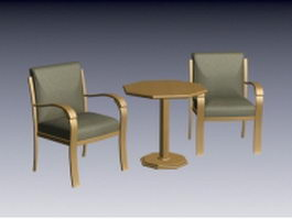 Tea table set 3d model