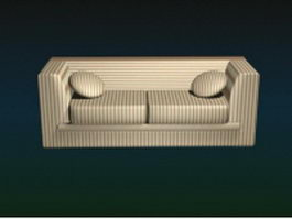 Modern fabric loveseat 3d model