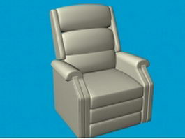 Leather recliner chair 3d model