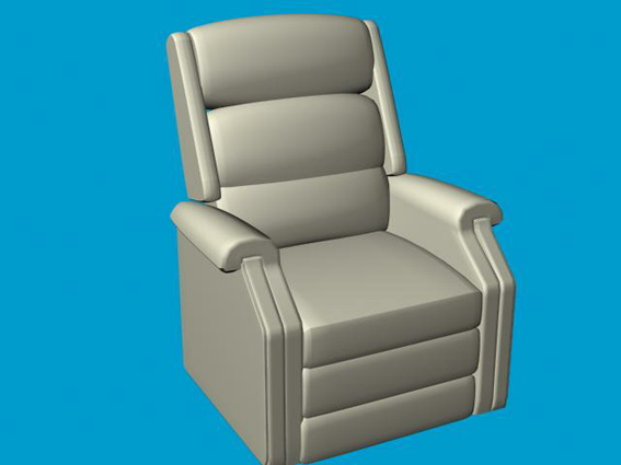 Leather recliner chair 3d model - 40.4KB