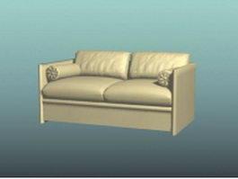 Upholstered loveseat 3d model