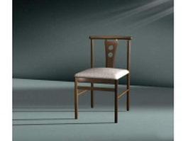 Upholstered dining chair 3d model
