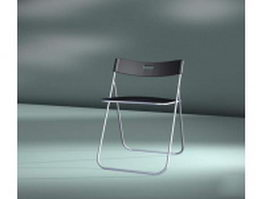 Folding dining chair 3d model