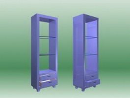Wood display shelves 3d model