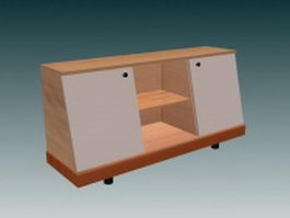 Console cabinet furniture 3d model