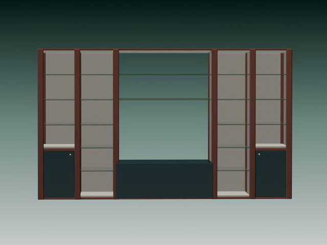 Wall cabinet and shelves 3d model 3ds max files free download