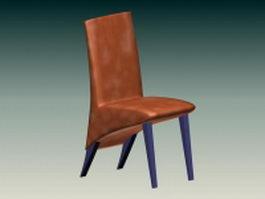 Upholstered side chair 3d model