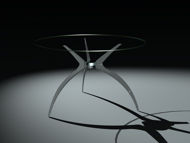 Modern round glass dining table 3d model 3ds max files for Dining room table 3ds max