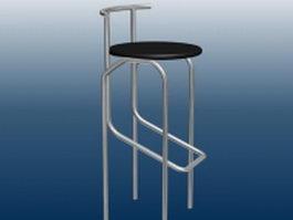 Metal bar stool 3d model