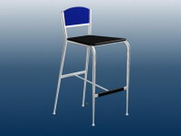 Kitchen bar stool 3d model