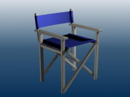 Wood bar chair with armrest 3d model