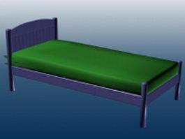 Single platform bed 3d model